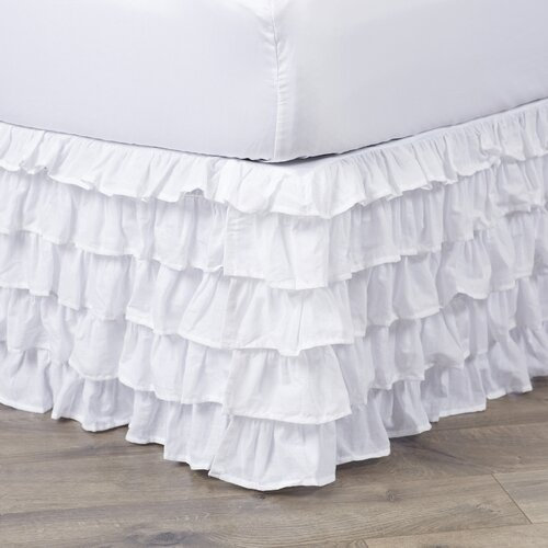 lark manor multi ruffle bed skirt reviews wayfair