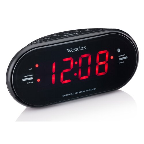 westclox bluetooth led speaker alarm clock reviews wayfair. Black Bedroom Furniture Sets. Home Design Ideas