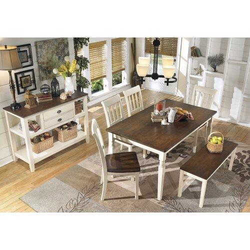 August Grove Cochran Wood Kitchen Bench & Reviews