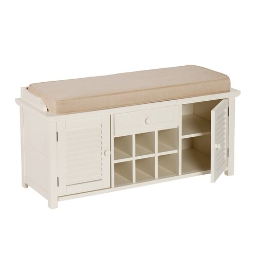 Beachcrest Home Pembroke Pines Wood Storage Entryway Bench