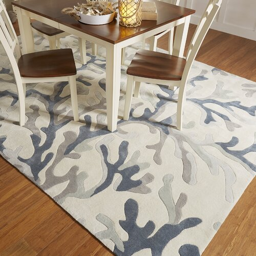 Beachcrest Home Cosmopolitan Light Gray/Teal Area Rug