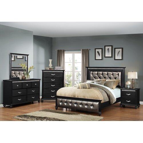 Simmons Casegoods Hollywood Panel Customizable Bedroom Set
