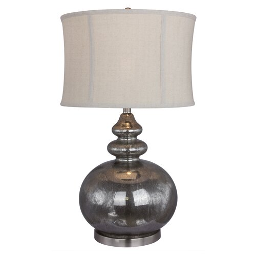 Woodland Imports Fitzy Glass Fillable 26 Quot H Table Lamp