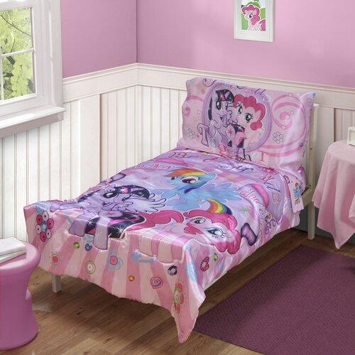 my little pony satin best friends 4 piece toddler bedding. Black Bedroom Furniture Sets. Home Design Ideas