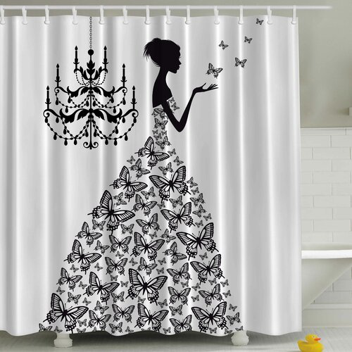ambesonne madame butterfly print shower curtain reviews wayfair