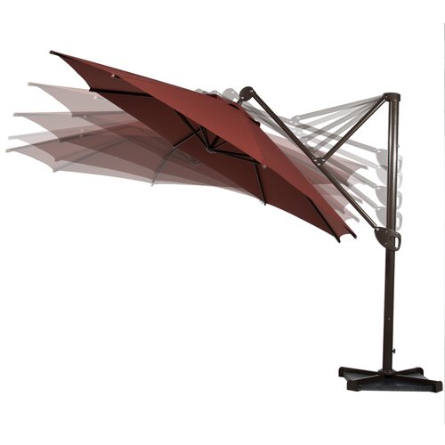11 39 deluxe octagon offset cantilever umbrella wayfair