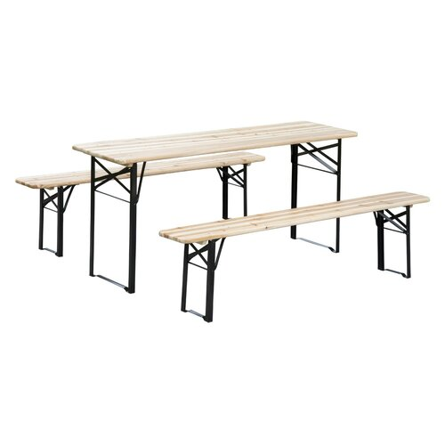 Picnic Table Set : Outsunny Outdoor Folding Picnic Table Set & Reviews  Wayfair