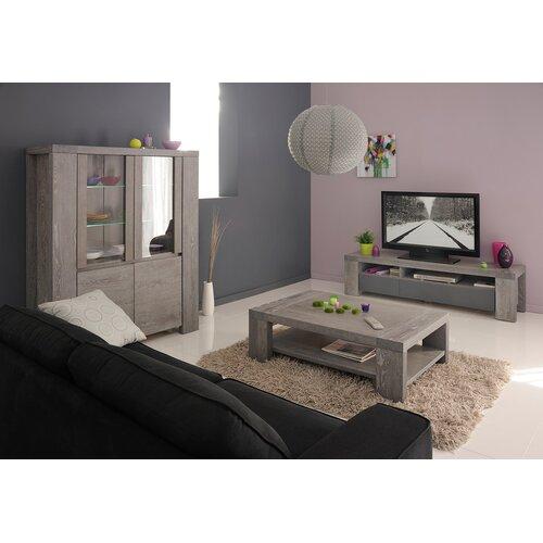 Parisot bristol coffee table with magazine rack reviews - Ensemble meuble tv table basse ...