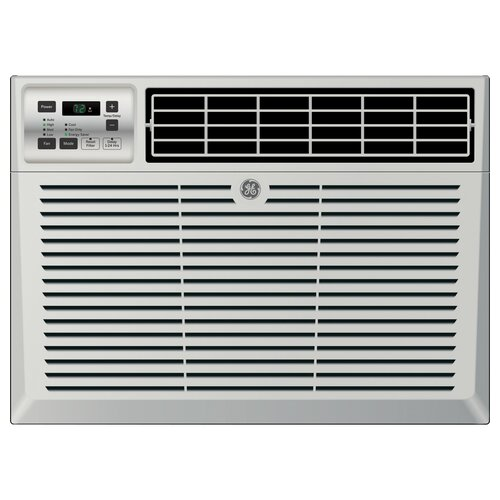 General Electric 12000 BTU Energy Star Window Air Conditioner with Remote, Chassis type: Fixed Filter type: One touch lift-out Louver style: 4-Way adjustable Rotary compressor: Yes Thermostat type: Electronic