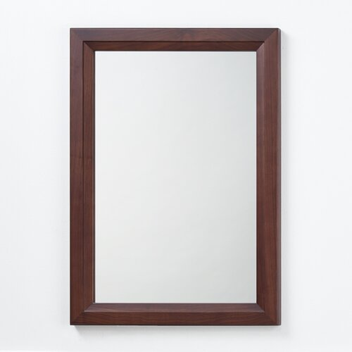 Solid Wood Framed Bathroom Mirror In American Walnut Wayfair