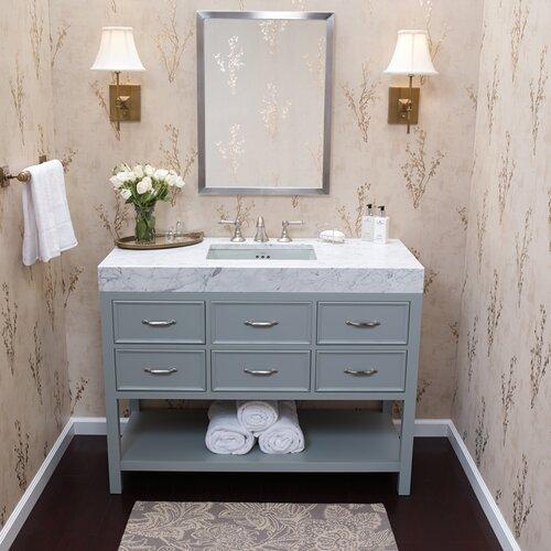 "Ronbow Newcastle 48"" Single Bathroom Vanity Set With Mirror & Reviews"
