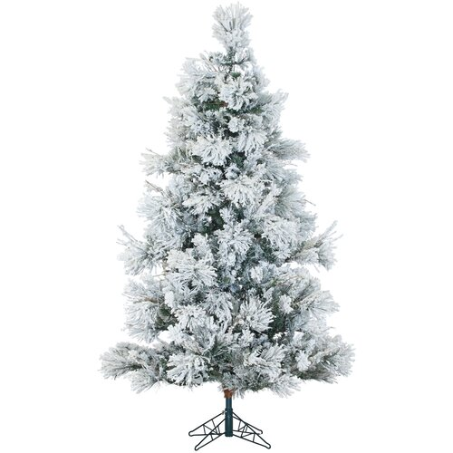 Snowy Pine 7 5 Green Artificial Christmas Tree with 650