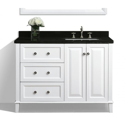 hannah 48 single bath vanity set with mirror wayfair. Black Bedroom Furniture Sets. Home Design Ideas
