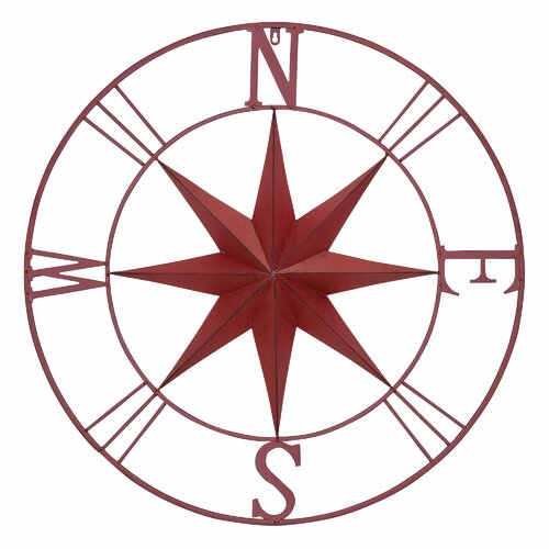 Vintage Compass Wall Decor : Bayaccents antique metal compass rose wall decor reviews