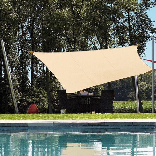 Aosom Outsunny Sun Sail Shade Canopy Installation Pole Kit ...