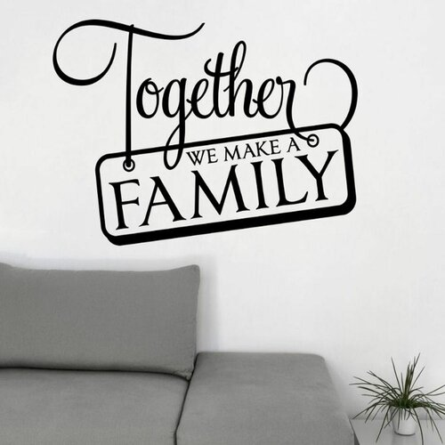 Together We Make a Family Wall Decal by DecaltheWalls