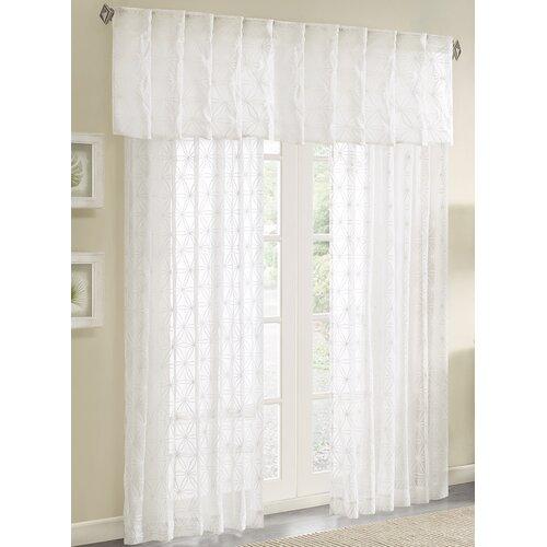 Gemma Sheer Embroidered Window Curtain Valance