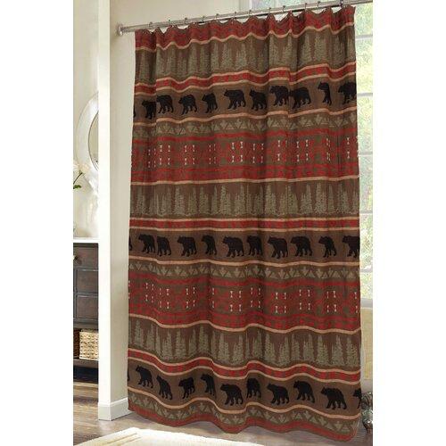 Carstens Inc Bear Country Cabin Mountain Rustic Shower Curtain Reviews Wayfair