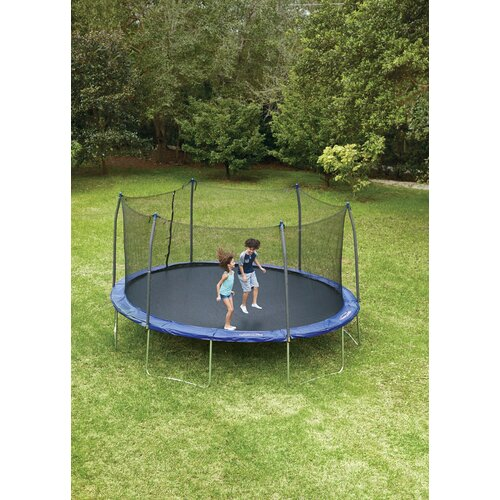 17 X 15 Oval Trampoline With Safety Enclosure: Symple Stuff 17' X 15' Oval Trampoline With Safety