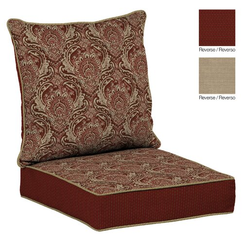 venice outdoor reversible deep seat cushion wayfair. Black Bedroom Furniture Sets. Home Design Ideas