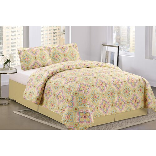 Floral 3 Piece Queen Quilt Set Wayfair
