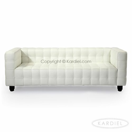 Kubus mid century modern leather sofa wayfair for Sofa 45 grad