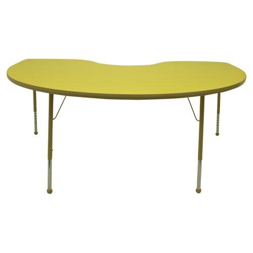 "Mahar Creative Colors 72"" x 48"" Kidney Classroom Table"