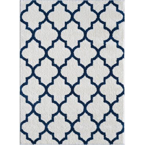 threadbind ceelaayo white navy area rug reviews wayfair. Black Bedroom Furniture Sets. Home Design Ideas