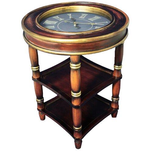 Dual Shelf Clock End Table Wayfair