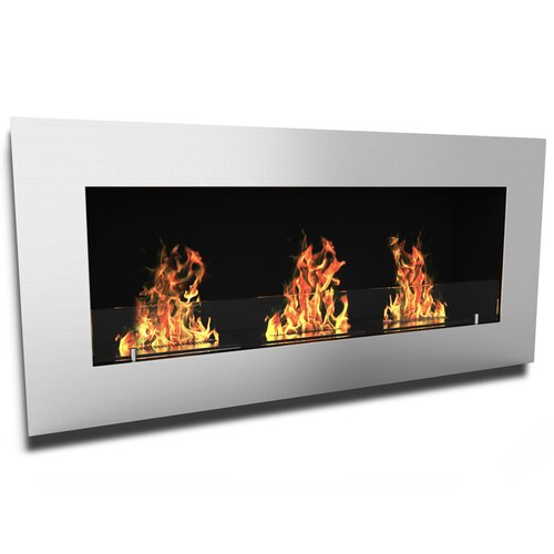 Monroe Ventless Wall Mounted Bio Ethanol Fuel Fireplace