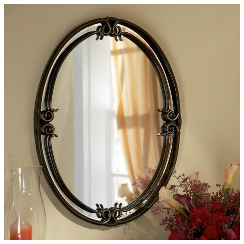 Quoizel duchess 30 h x 24 w wall mirror reviews wayfair for Mirror 50 x 30