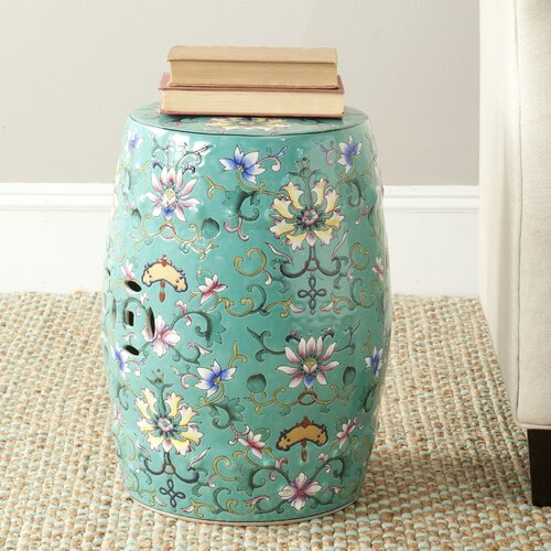 safavieh water lily garden stool reviews wayfair