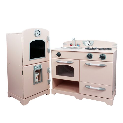 Teamson Kids 2 Piece Wooden Play Kitchen Set & Reviews
