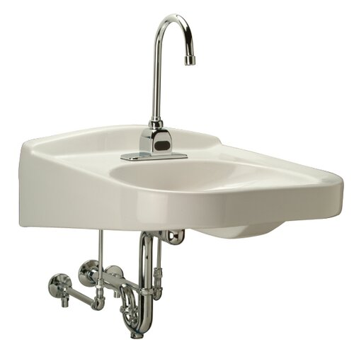 Wheelchair Ada Bathroom Sink With Half Pedestal Wayfair