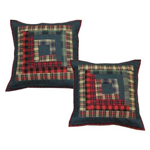 Log Cabin Cotton Throw Pillow Wayfair