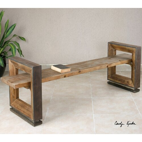 Modern Entryway Benches: Uttermost Parkyn Modern Entryway Bench & Reviews