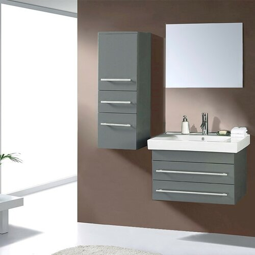 Model Ultra Modern Series 71quot Double Bathroom Vanity Set With Mirror By