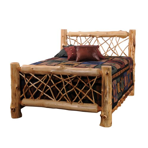 Traditional cedar log wood headboard wayfair Traditional wood headboard