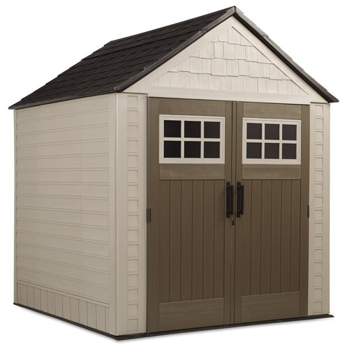Rubbermaid double wall resin storage shed reviews wayfair for Resin storage sheds