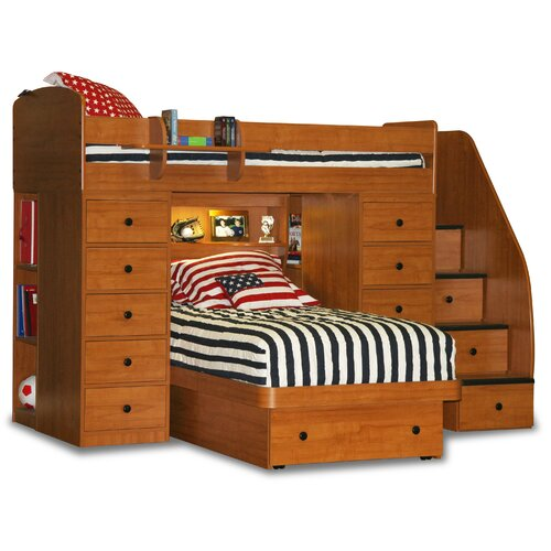 Berg Space Saver Twin Over Twin Platform Bunk Bed With 2