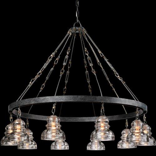 troy lighting menlo park 10 light chandelier. Black Bedroom Furniture Sets. Home Design Ideas