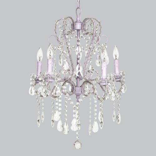 Whimsical 5 Light Crystal Chandelier
