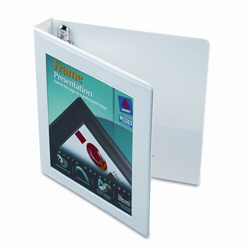 "Avery Consumer Products Framed View Binder with One Touch Locking Ezd Rings, 1"" Capacity"