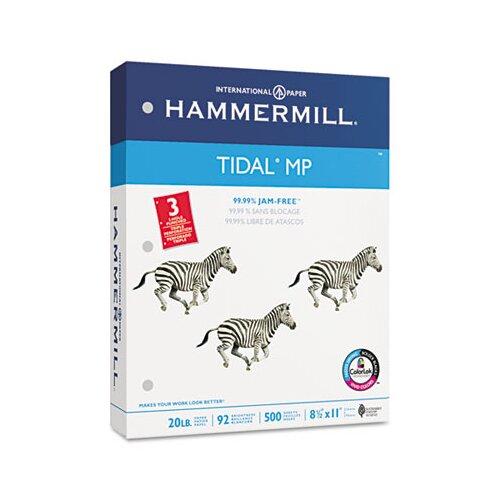 Hammermill Tidal Mp Copy 3-Hole Punched Paper, 92 Brightness, 20Lb, Ltr, 5000/Carton