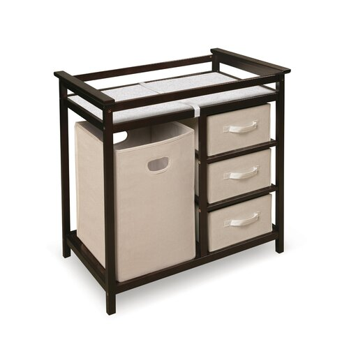 espresso wood changing table 3