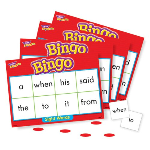 Trend Enterprises Sight Words Bingo Games, 46 Practice Words, 36 Cards ...