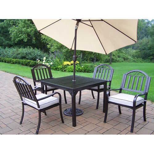 Outdoor Patio Furniture Rochester Ny: Rochester 7 Piece Dining Set With Cushions And Umbrella