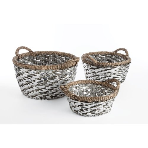 Greenwich 3 Piece Basket with Handle Set by Napa Home & Garden