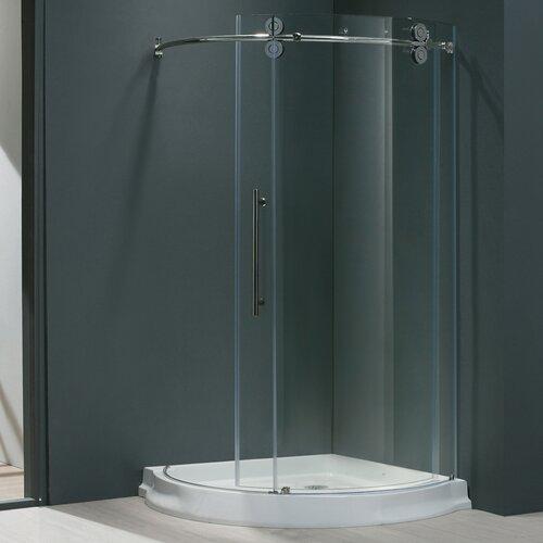 Sanibel 40 x 40 in frameless round sliding shower - Wd40 on glass shower doors ...