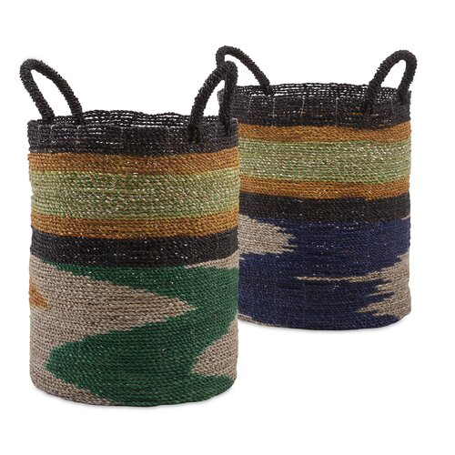 2 Piece Zephon Seagrass Baskets Set by Bungalow Rose